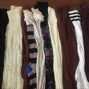 Lot of ten pair tall boot socks Free People ++